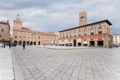 Marktplatz Maggiore mit Accursio Palast Lizenzfreies Stockbild