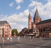 Marktplatz in Mainz Royalty-vrije Stock Afbeeldingen