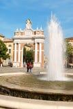 Marktplatz Marconi in Santarcangelo di Romagna, Italien Lizenzfreies Stockbild