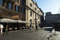 Marktplatz Navona in Rom Stockfotos