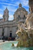 Marktplatz Navona, Rom, der Brunnen entwarf durch G L bernini lizenzfreies stockfoto