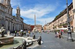 Marktplatz Navona Rom Italien Lizenzfreie Stockbilder