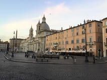 Marktplatz Navona Sant 'Agnese in Agone stockfotografie