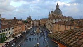 Marktplatz Navona-Vogelperspektive, Rom, Italien lizenzfreie stockfotos