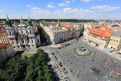 Marktplatz, Prag Stockbild