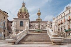 Marktplatz Pretoria ist einer der zentralen Plätze von Palermo, Sizilien, Italien Lizenzfreie Stockfotografie