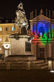 Marktplatz San Carlo in Turin Stockfotografie