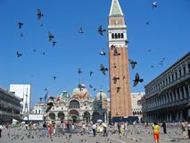 Marktplatz San Marco Stockbild