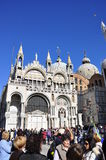 Marktplatz San Marco im Venedigdoges-Palast Stockbilder