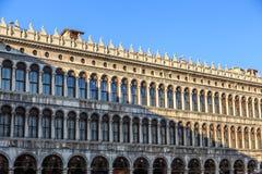 Marktplatz San Marco mit Glockenturm, Basilika San Marco und Doge-Palast Venedig, Italien Venedig, Italien Lizenzfreie Stockfotos