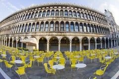 Marktplatz San Marco am Morgen Lizenzfreies Stockfoto