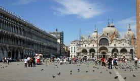 Marktplatz San Marco in Venedig Stockfotografie