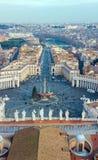 Marktplatz San Pietro in der Vatikanstadt lizenzfreies stockbild