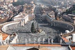 Marktplatz San Pietro, Rom stockbild