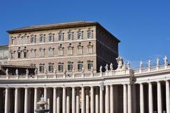 Marktplatz San Pietro, Vatikan Stockfotografie