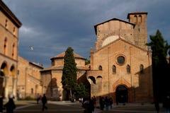 Marktplatz Santo Stefano, Bologna, Italien stockfoto