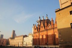 Marktplatz Sordello in Mantova, Italien Lizenzfreies Stockbild