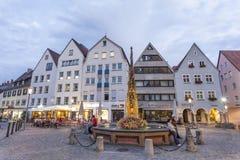 Marktplatz in Ulm, Deutschland Stockfotos