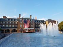 Marktplatz und Rathaus in der alten Stadt, Alexandria, Virginia stockfoto