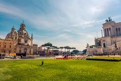 Marktplatz Venezia in Rom, Italien Stockfotos