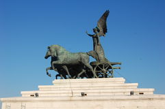Marktplatz Venezia Statuedetail, Rom Lizenzfreie Stockbilder