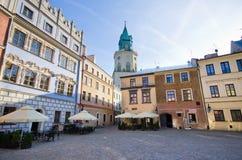 Marktplatz von Lublin, Polen Stockbild