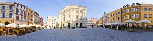 Marktplatz von Lublin, Polen Lizenzfreies Stockfoto