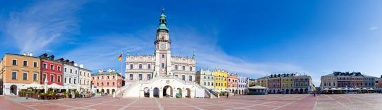 Marktplatz von Zamosc - Polen Stockfotos