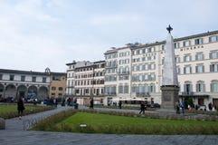 Marktplatzdi Santa Maria Novella in Florenz Lizenzfreies Stockbild