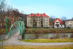 Marktstadt Reichenau auf dem Rax auf dem Fluss Schwarza Niederösterreich Lizenzfreie Stockbilder