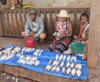 Marktstall mit Fischen in Afrika Lizenzfreie Stockbilder
