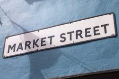 Marktstraat in de Stegen in Brighton stock foto