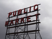 Marktteken Stock Fotografie