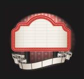Markttent met de banner van de filmstrook royalty-vrije illustratie
