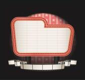 Markttent met de banner van de filmstrook vector illustratie