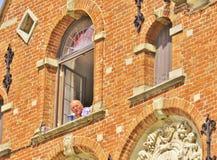 Marktvierkant, Brugge stock afbeelding
