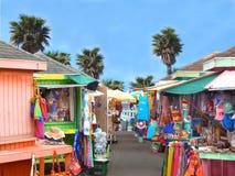 Marktvierkant in de Caraïben Stock Foto