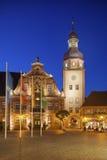 Marktvierkant met stadhuis en stadhuistoren, Ettlingen, Ger Stock Afbeelding