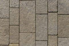 Marktvierkant met verschillend gerangschikte concrete blokken en verbindingen royalty-vrije stock fotografie
