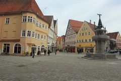 Marktvierkant in Nordlingen Royalty-vrije Stock Foto