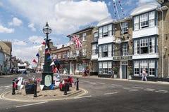 Marktvierkant, Southwold, het UK royalty-vrije stock foto's