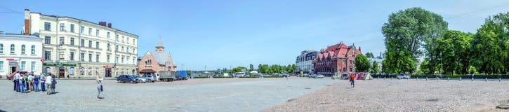 Marktvierkant in Vyborg Panorama stock afbeeldingen