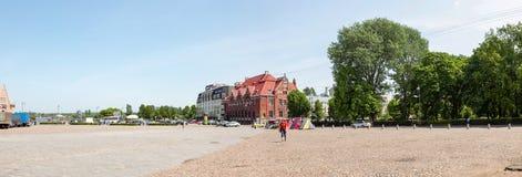 Marktvierkant in Vyborg Panorama royalty-vrije stock foto's