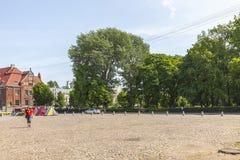 Marktvierkant in Vyborg royalty-vrije stock afbeelding