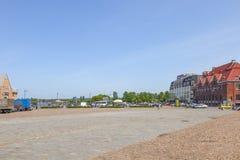 Marktvierkant in Vyborg stock fotografie
