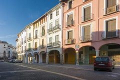 Marktvierkant, Xativa, Spanje stock afbeelding