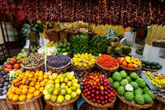 Marktzaal van Funchal, Madera royalty-vrije stock afbeeldingen