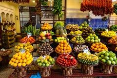 Marktzaal van Funchal, Madera Stock Foto