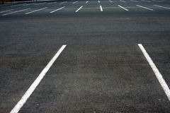The empty parking lot royalty free stock photo