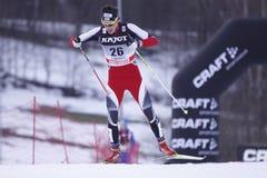 Markus Bader - Querland-Skifahrer Stockfotografie